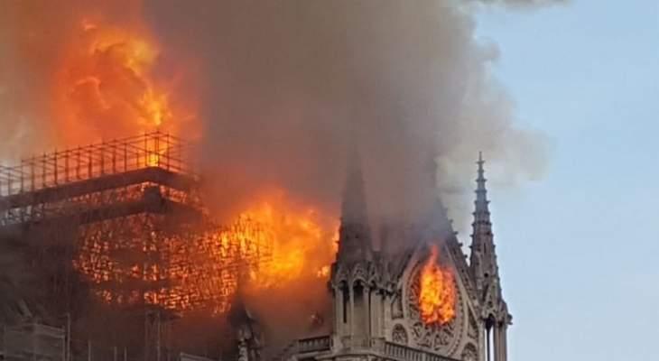 اندلاع حريق في كاتدرائية نوتردام في باريس