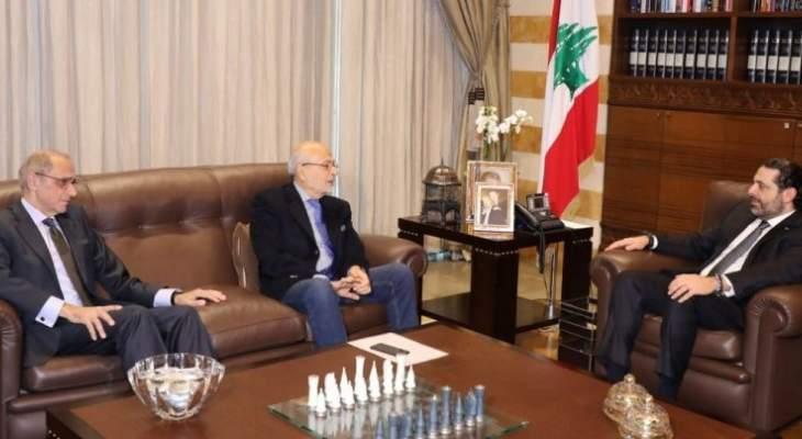 الحريري عرض مع شهيب وحلو لتطورات الأوضاع ولشؤون إنمائية والتقى سفير لبنان بالمغرب