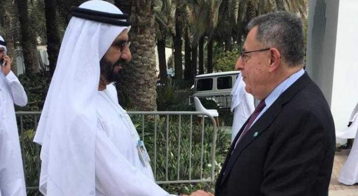 السنيورة التقى حاكم دبي وبحث معه الاوضاع العربية