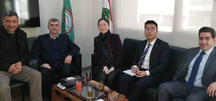 وفدان من السفارتين الصينية والصربية بمكتب العلاقات الخارجية لحركة أمل