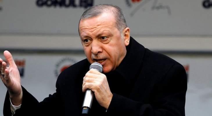أردوغان ينتقد ازداوجية معايير الغرب إزاء إعادة انتخابات إسطنبول