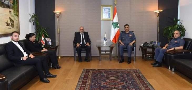 اللواء عثمان التقى عائلة الرقيب الشهيد جوني خليل