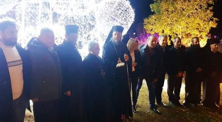 منصور اضاء شجرة الميلاد في شدرة:ليكن الخير مولودا دائما في قلوب الجميع