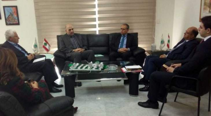 اللقيس عرض مع السفير المصري العلاقات الثنائية ولاسيما في المجال الزراعي