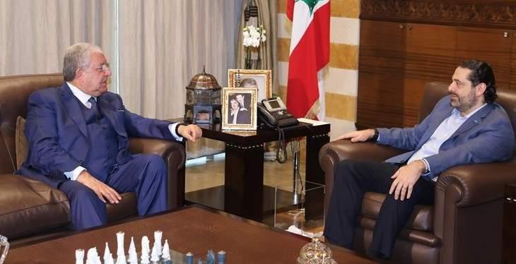 الحريري عرض مع المشنوق التطورات وتابع أوضاع المدارس الرسمية في العاصمة