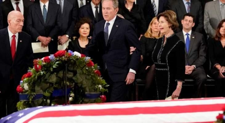 جثمان جورج بوش يسجّى في الكابيتول بواشنطن