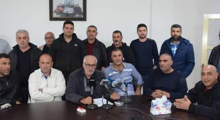 نقابة النقل البري بالجنوب هددت بالاضراب المفتوح في حال عدم تلبية مطالبها