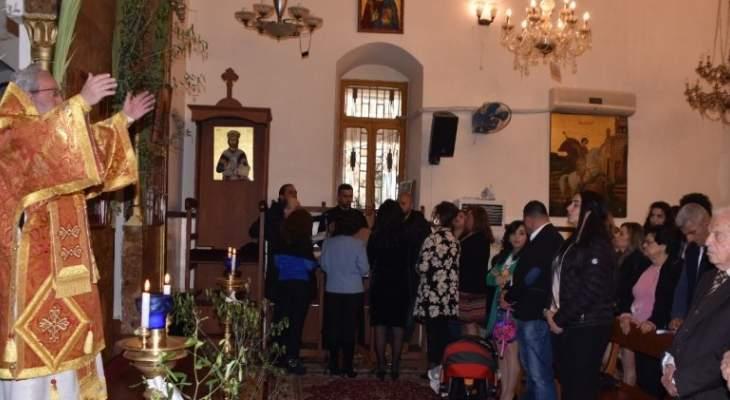 المطران كفوري ترأس قداس أحد الشعانين في كنيسة مار جاورجيوس للروم الارثوذكس بمرجعيون