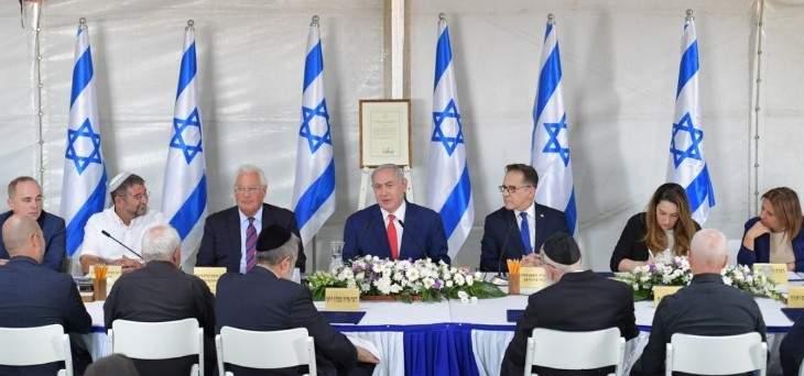 بنيامين نتانياهو: سنواصل تعمير وتطوير الجولان لصالح سكانه جميعا