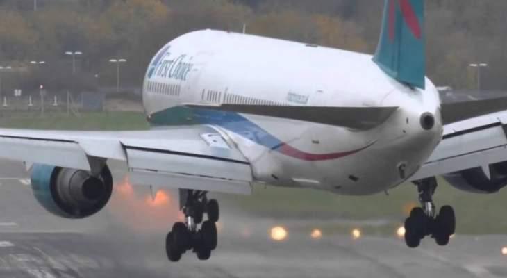 6 جرحى بهبوط إضطراري لطائرة في مطار جورجتاون بغوايانا باميركا الجنوبية