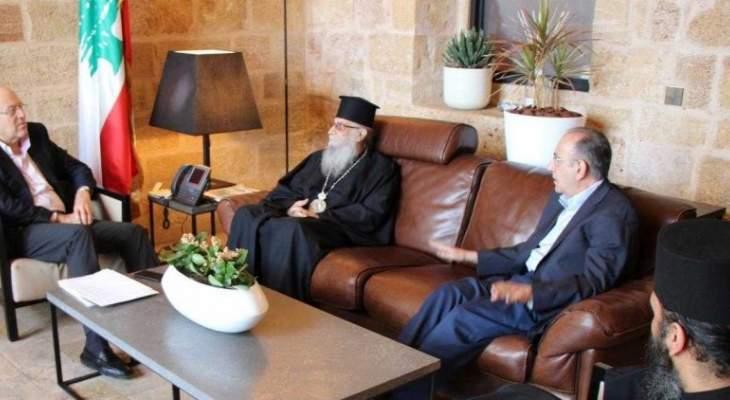 ميقاتي استقبل متروبوليت طرابلس والكورة وتوابعهما للروم الأرثوذكس