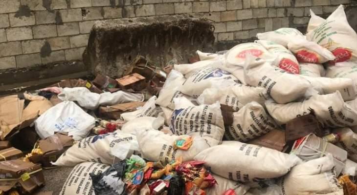 مراقبو الاقتصاد ختموا مستودعين في برج حمود والغبيري فيهما مواد غذائية منتهية الصلاحية