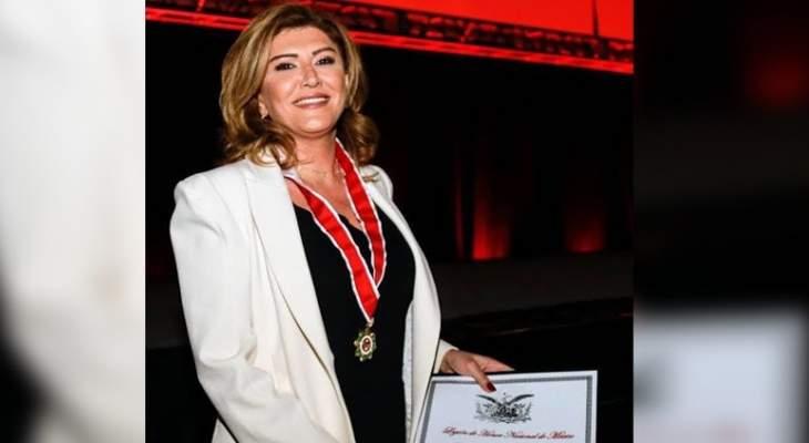 لأول مرة في الشرق الأوسط: السيدة بتي هندي تحصل على وسام جوقة الشرف المكسيكي السنوي