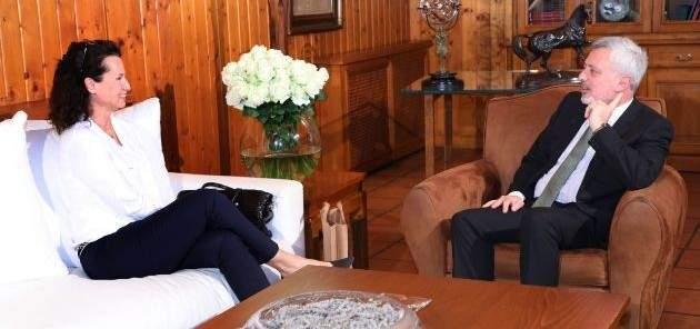 سليمان فرنجيه بحث الأوضاع الراهنة مع السفيرة التشيكية في لبنان