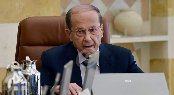 الرئيس عون: نصطدم بإصرار المجتمع الدولي على إعطاء الأولوية للحل السياسي لعودة النازحين