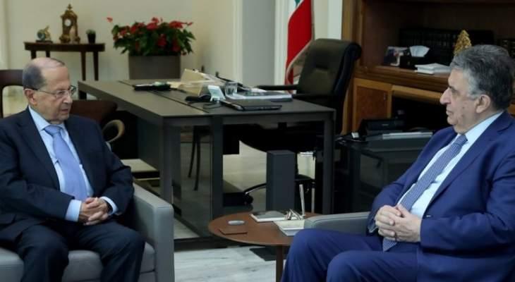 الرئيس عون استقبل الوزير السابق ناجي البستاني واجرى معه جولة افق