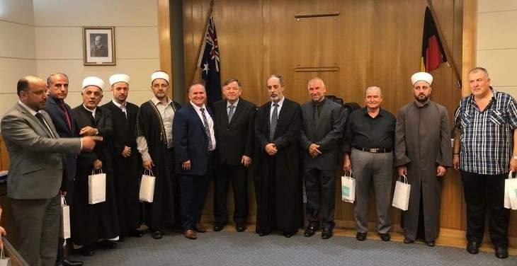 عصفور زار بلدية بايسد في سيدني خلال زيارته أستراليا