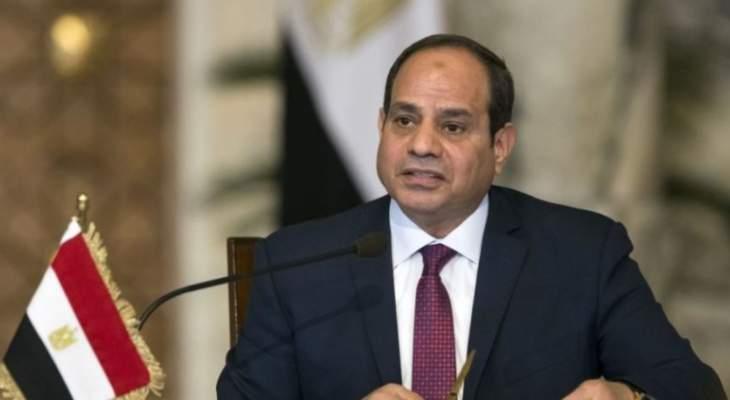 السيسي: الجيش والشرطة جناحا الأمن للأمة المصرية