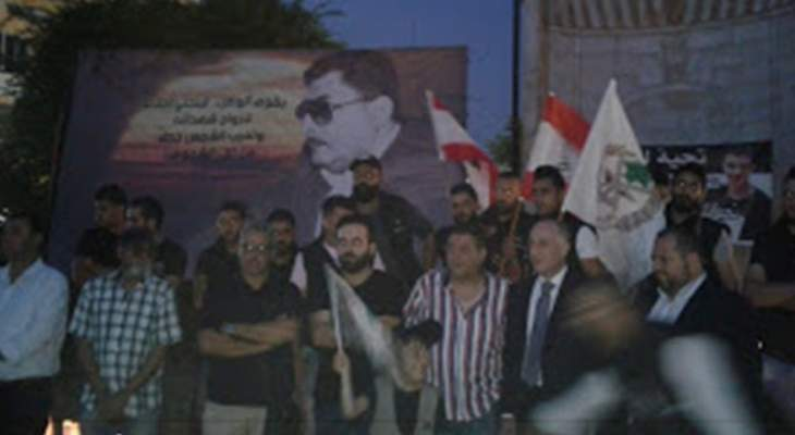 وقفة تضامنية وإضاءة شموع بصيدا تحية لأرواح شهداء جريمة طرابلس الإرهابية
