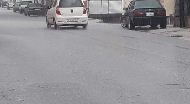 النشرة: تساقط غزيز للأمطار في حاصبيا وانقطاع التيار الكهربائي