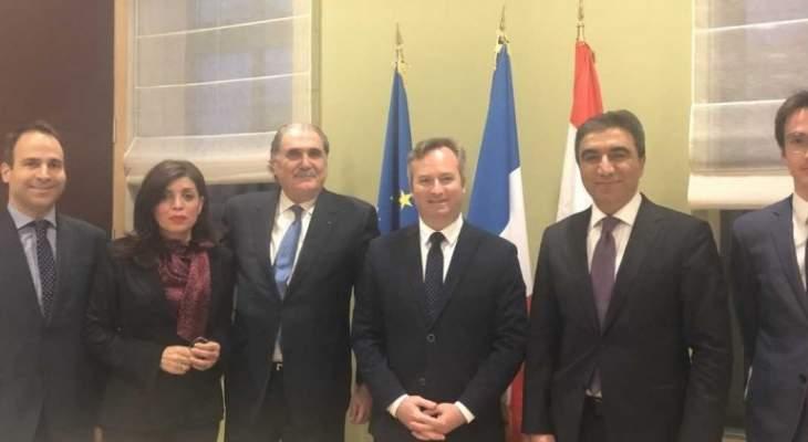 جريصاتي عرض مع وزير الدولة للشؤون الخارجية الفرنسية تداعيات ازمة النازحين
