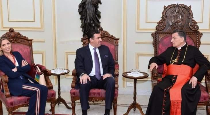 الراعي استقبل سفير المكسيك وسفير لبنان لدى الارجنتين