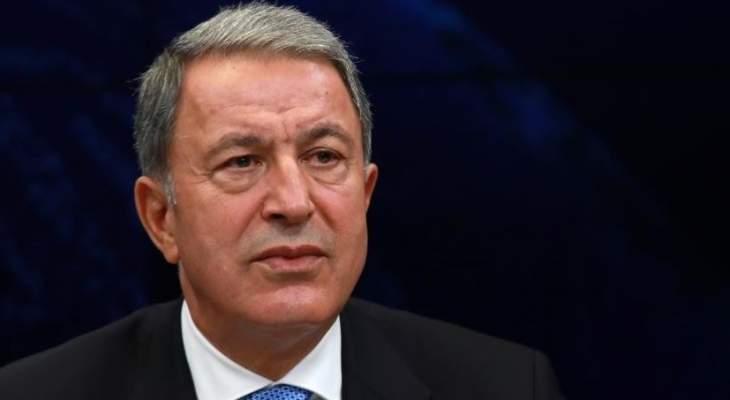 وزير الدفاع التركي ونظيره القطري ناقشا سبل التعاون الدفاعي بين البلدين
