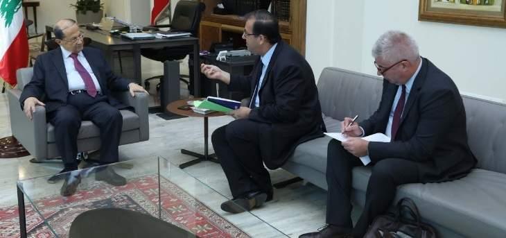 الرئيس عون عرض مع سفير فرنسا الأوضاع الراهنة والتطورات الأخيرة