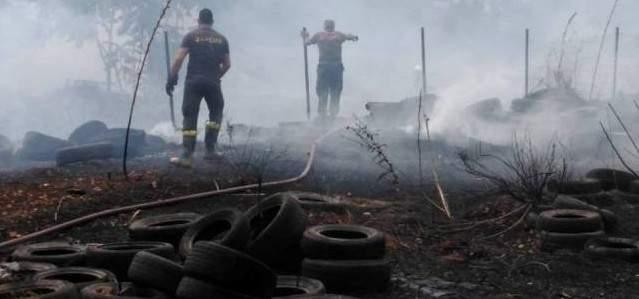 النشرة: حريق في النبطية قرب مصرف لبنان والاضرار اقتصرت على الماديات