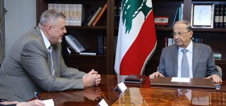 عون عرض مع كوبيتش للتحضيرات لإعداد تقرير عن القرار 1701 لعرضه أمام مجلس الأمن