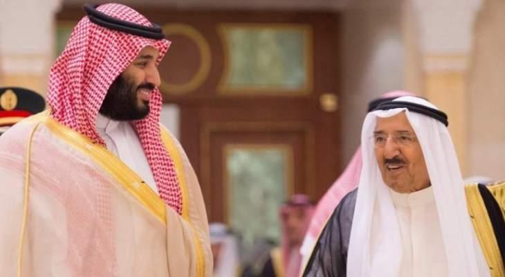واس: أمير الكويت يبعث رسالة إلى ولي العهد السعودي