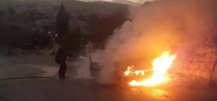 النشرة: احتراق سيارة على طريق يارون والاضرار مادية