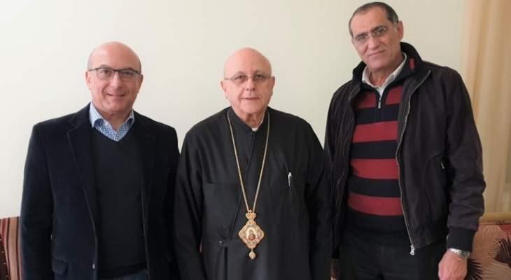درويش استقبل المرشح لمركز نقيب أطباء لبنان في بيروت يوسف بخاش