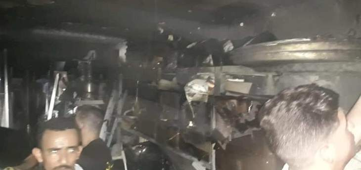 الدفاع المدني: إخماد حريق شب داخل مستودع احد المطاعم في الروشة