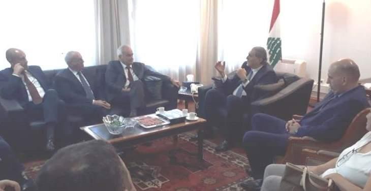 جريصاتي التقى المدير العام للمنظمة العامة للكرمة والنبيذ