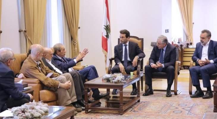 اجتماع في مكتب شبيب لبحث موضوع شبكة الصرف الصحي في بيروت