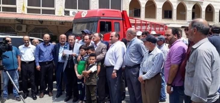 اعتصام في النبي شيت وقطع طريق في سرعين استنكارا لانقطاع المياه