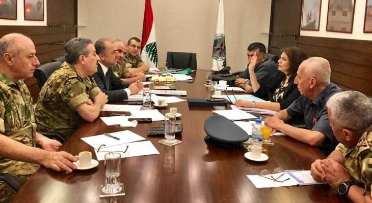 اجتماع وزارة الدفاع أمس بحث بمواد الموازنة المتعلقة بوزارتي الدفاع والداخلية