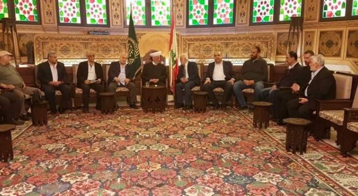 دريان التقى وفدا من اتحاد الجمعيات والروابط والهيئات البيروتية