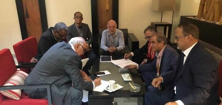القصيفي شارك بإجتماع عربي ودولي بتونس لمتابعة قضية إختطاف سمير كساب ورفاقه