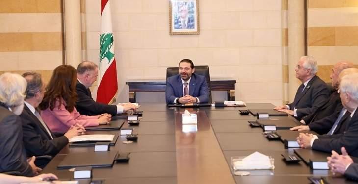 الحريري استقبل ممثلة الأمين العام للأمم المتحدة للحد من مخاطر الكوارث ورئيس المجلس العالمي للمياه