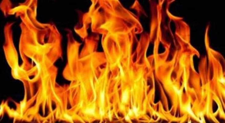 حريق داخل اراضي حرجية وزراعية في بلدة ميمس حاصبيا
