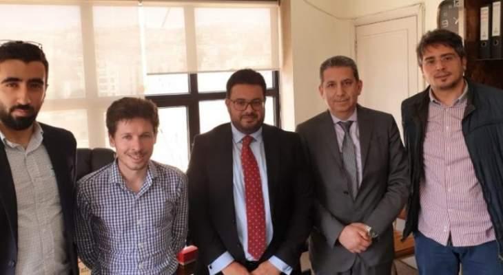 وفد من الوكالة الفرنسية للتنمية زار كلية الحقوق الفرع الرابع