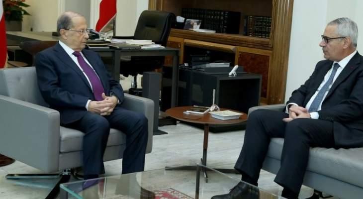 الرئيس عون التقى رئيس مجلس القضاء الاعلى القاضي جان فهد