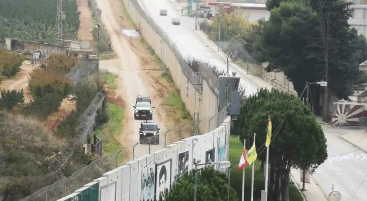 النشرة: قوة إسرائيلية تتفقد السياج الحدودي على طول الخط التقني
