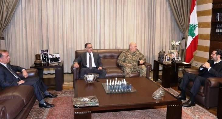 الحريري بحث مع قائد الجيش بالأوضاع الأمنية عموما والخروقات الإسرائيلية
