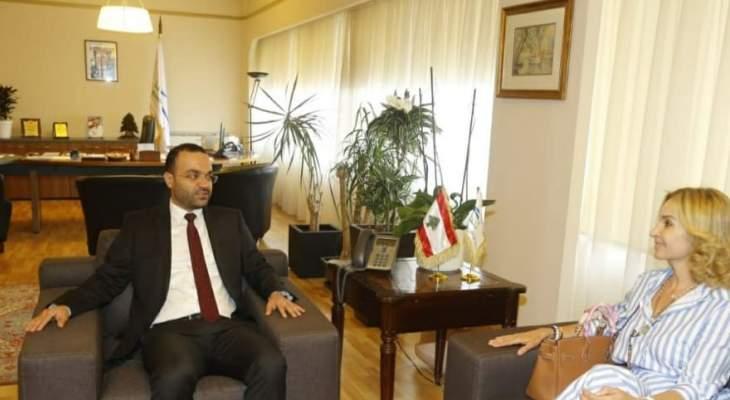 داود التقى سفيرة سويسرا وبحث معها في تفعيل التعاون الثقافي