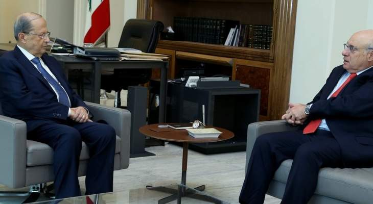 الرئيس عون عرض مع أبو سليمان لشؤون وزارة العمل والتقى بهية الحريري والسعودي
