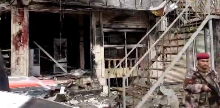 إجلاء جرحى أميركيين من وسط منبج بعد انفجار أوقع 9 قتلى مدنيين ونحو 20 مصابا