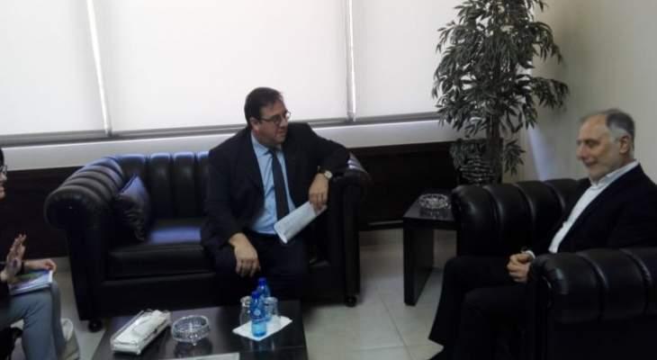 فنيش التقى السفير الفرنسي وعرض معه سبل تعزيز التعاون